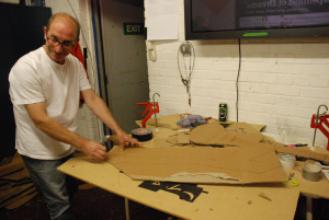Paddy creating props at Segue Studio Session